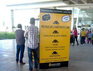 Taxi guide at Chandigarh International Airport